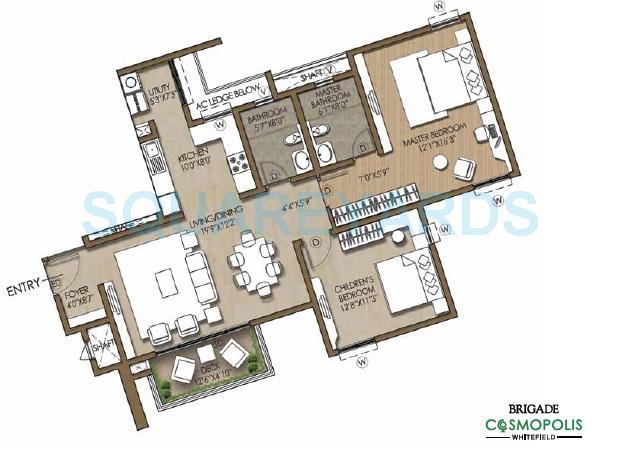 brigade cosmopolis apartment 2bhk 1370sqft1