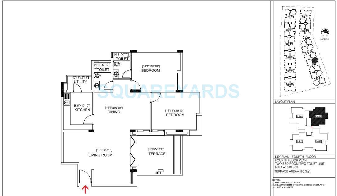brigade courtyard apartment 2bhk 1310sqft1