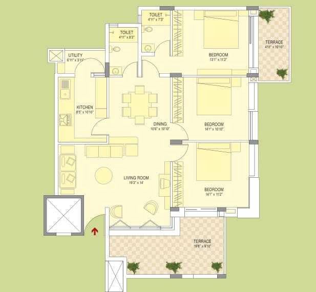 brigade courtyard apartment 3bhk 1750sqft 20204327134325