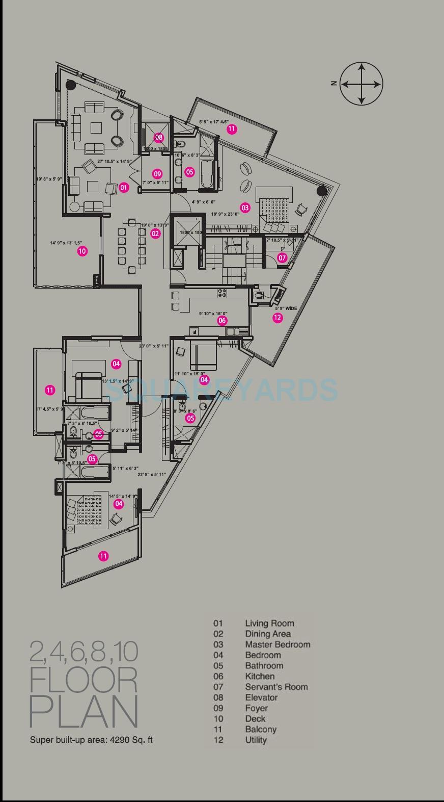 brigade crescent apartment 4bhk 4290sqft1