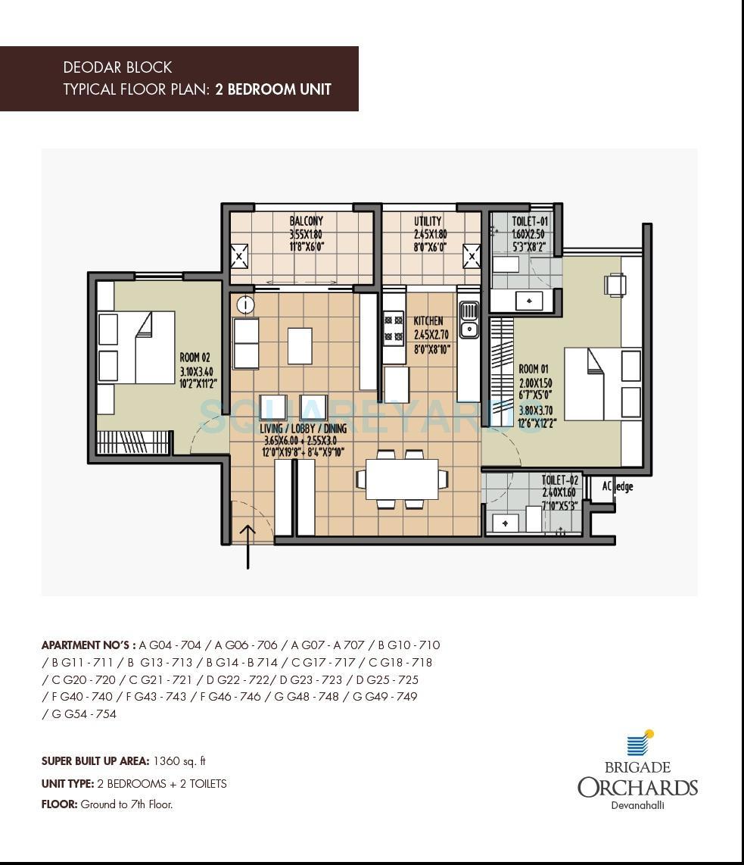 brigade deodar apartment 2bhk 1360sqft1