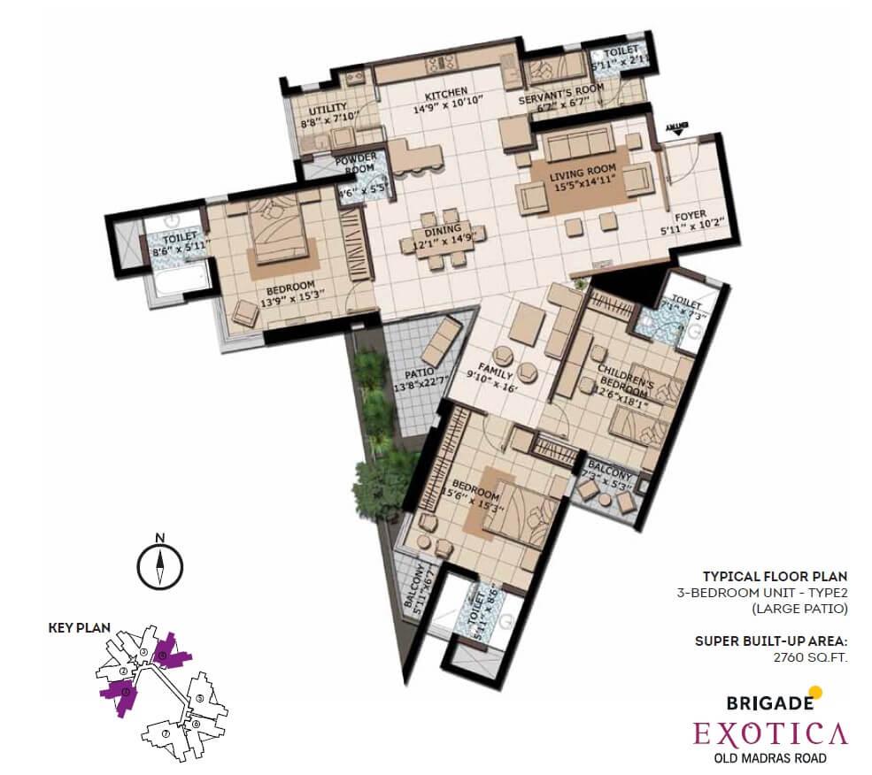 brigade exotica apartment 3bhk sq 2760sqft 1