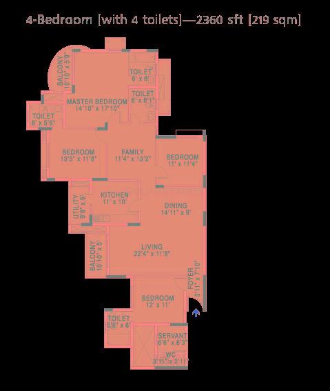 brigade gateway enclave apartment 4bhk 2360sqft1