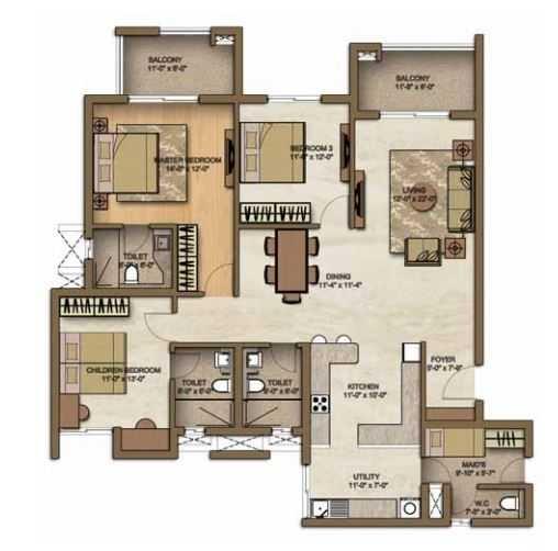 brigade lakefront apartment 3 bhk 2040sqft 20205127115125