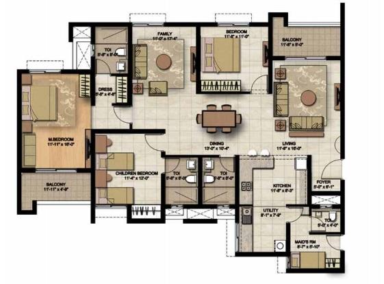 brigade lakefront apartment 3 bhk 2330sqft 20203827113827