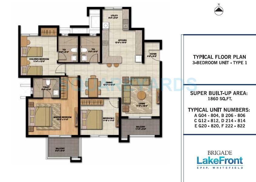 brigade lakefront apartment 3bhk 1860sqft1