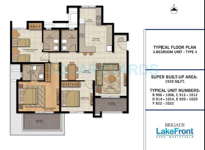 brigade lakefront apartment 3bhk 1930sqft1