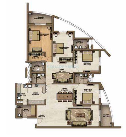 brigade lakeview apartment 4bhk 3129sqft1