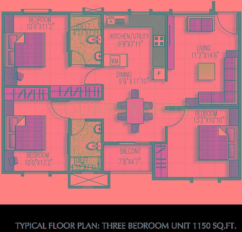 brigade meadows apartment 3bhk 1150sqft1