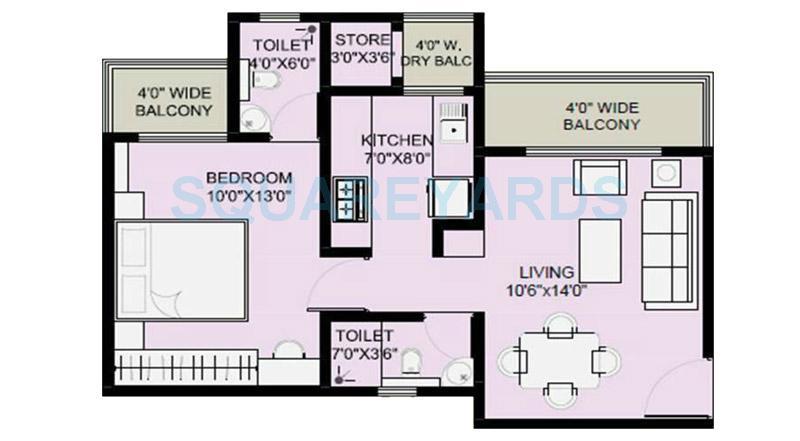 1 BHK 800 Sq. Ft. Apartment for Sale in Brigade Metropolis at Rs ...