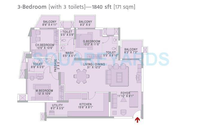 brigade metropolis apartment 3bhk 1840sqft1