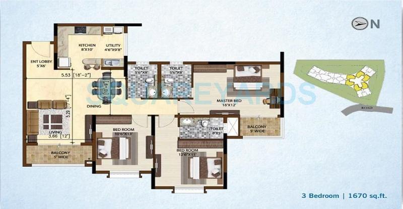 brigade nest apartment 3bhk 1670sqft 1