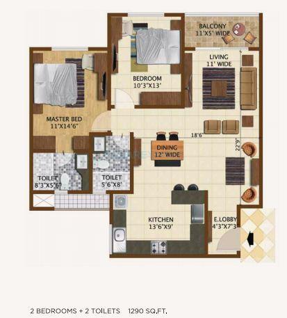 brigade northridge apartment 2bhk 1292sqft1