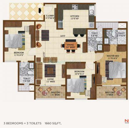 brigade northridge apartment 3bhk 1600sqft1