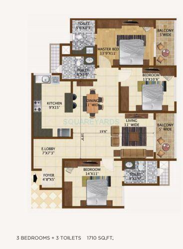 brigade northridge apartment 3bhk 1884sqft1