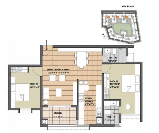 brigade orchards luxury apartments apartment 2 bhk 1360sqft 20215903125907