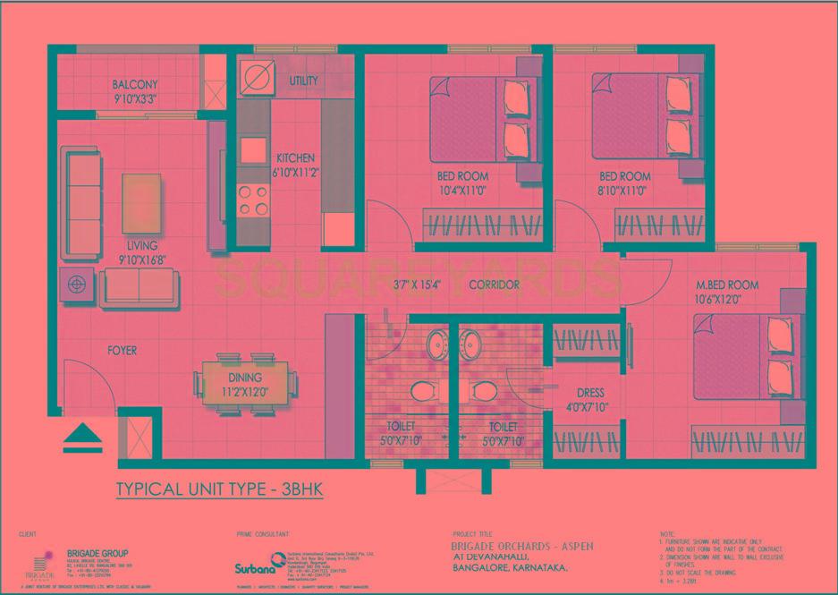 brigade orchards value homes apartment 3bhk 1200sqft1