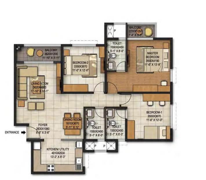 brigade panorama apartment 3bhk 1584sqft 1