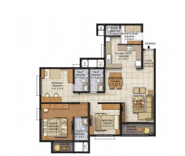 brigade panorama apartment 3bhk 1710sqft1