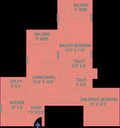 brigade paramount apartment 2bhk 1420sqft1