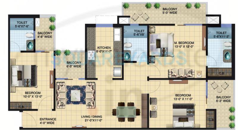 brigade paramount apartment 3bhk 1730sqft1
