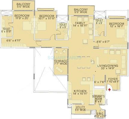brigade petunia apartment 3bhk 3300sqft1
