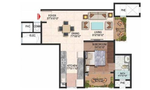 brigade plumeria lifestyle apartment 1bhk 780sqft111