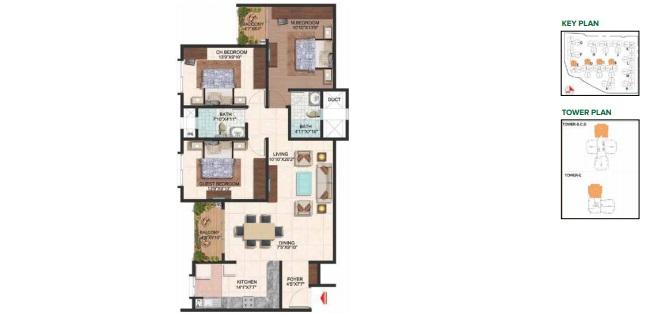 brigade plumeria lifestyle apartment 3bhk 1480sqft111