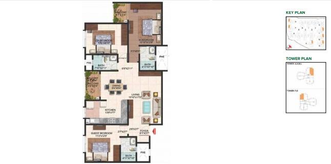 brigade plumeria lifestyle apartment 3bhk 1510sqft111