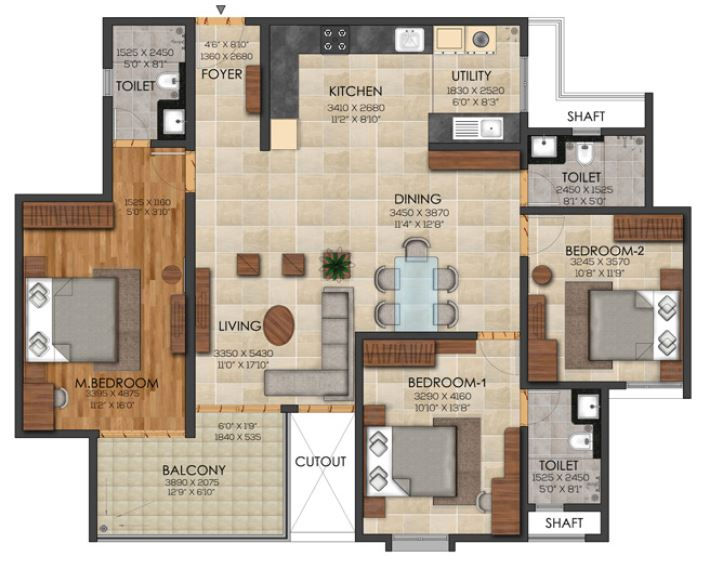 brigade utopia apartment 3bhk 1174sqft 1
