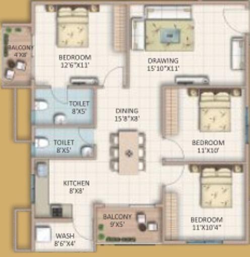 candeur signature apartment 3bhk 1360sqft21