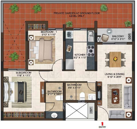 casagrand lorenza apartment 2bhk 1091sqft 1