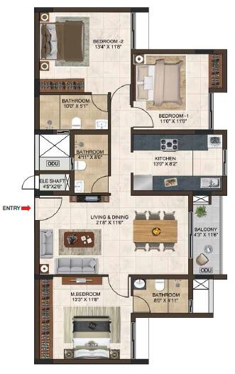 casagrand lorenza apartment 3bhk 1500sqft 1