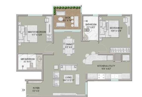 centreo  apartment 2 bhk 1400sqft 20211718111759