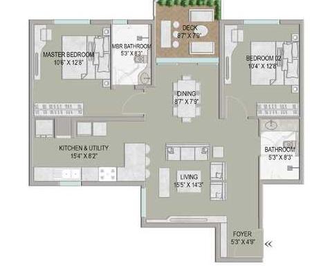 centreo  apartment 2 bhk 1565sqft 20212018112022
