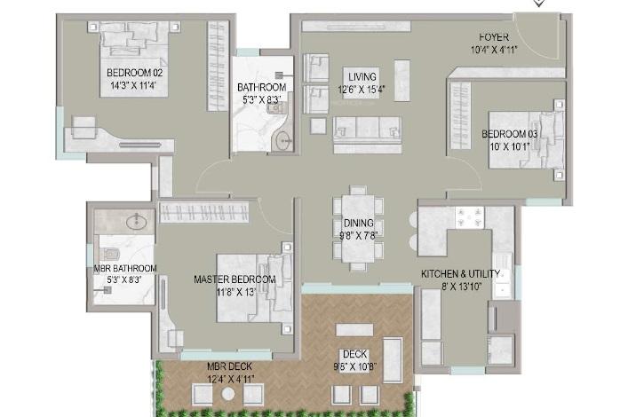 centreo  apartment 3 bhk 1770sqft 20212518112523