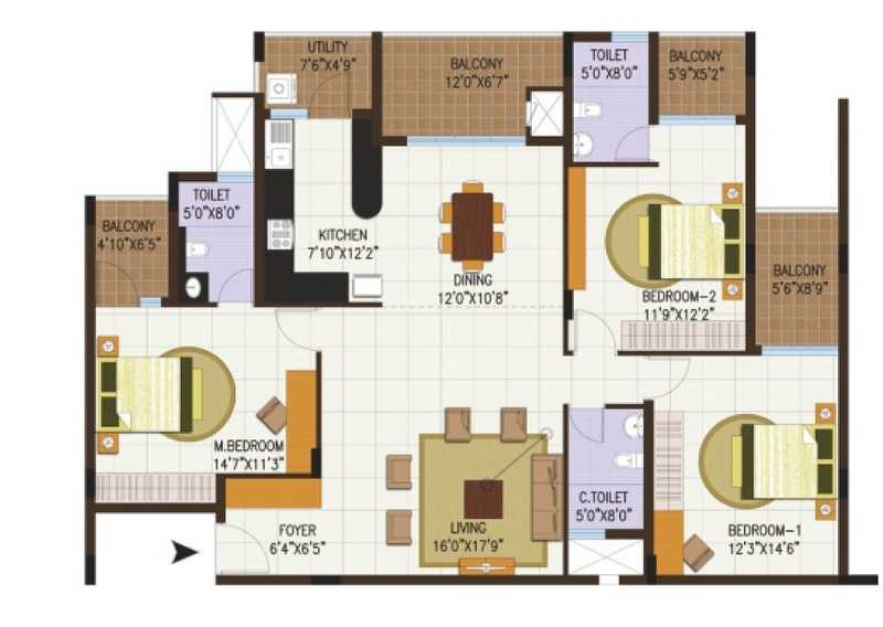 century central apartment 3 bhk 1978sqft 20204511174518