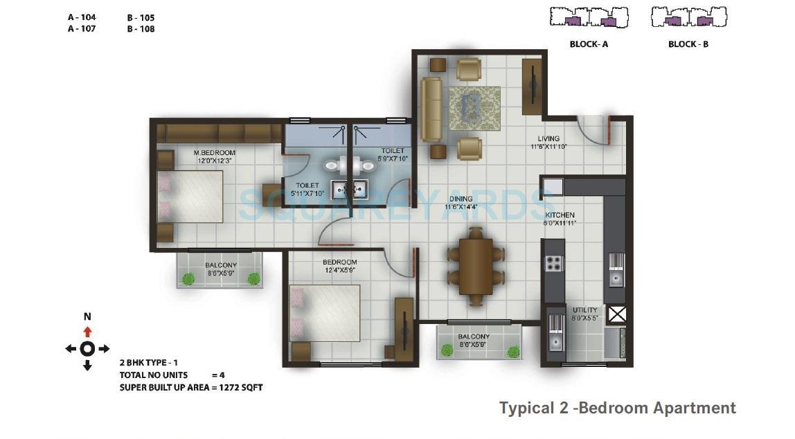 century century celeste apartment 2bhk 1272sqft1