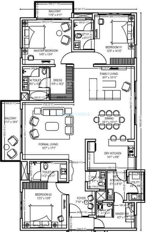 century ethos apartment 3bhk 3125sqft1