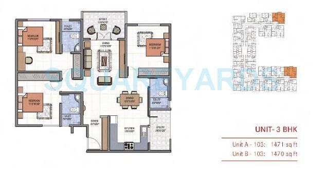 century marvel apartment 3bhk 1471sqft1
