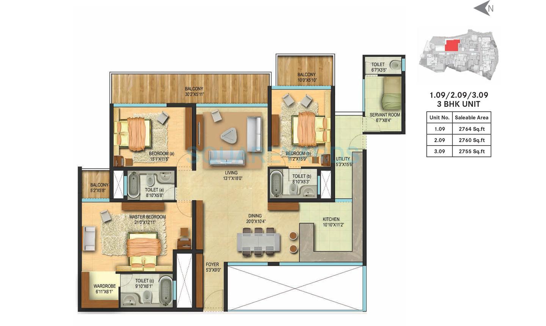 century renata apartment 3bhk 2755sqft1