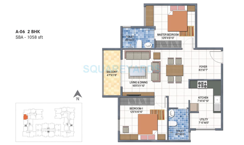 century saras apartment 2bhk 1058sqft1