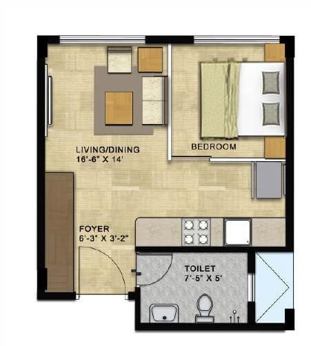 citrus ventures vega apartment 1bhk 423sqft 1
