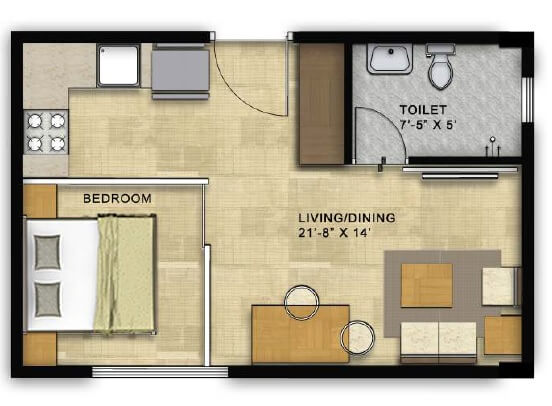 450 sq ft apartment floor plan thefloors co for 450 sq ft floor plan
