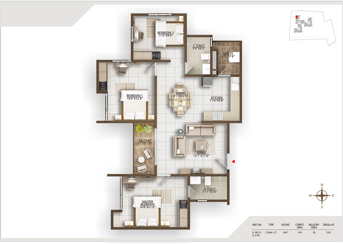 concorde auriga apartment 3bhk 1334sqft 20204019084015