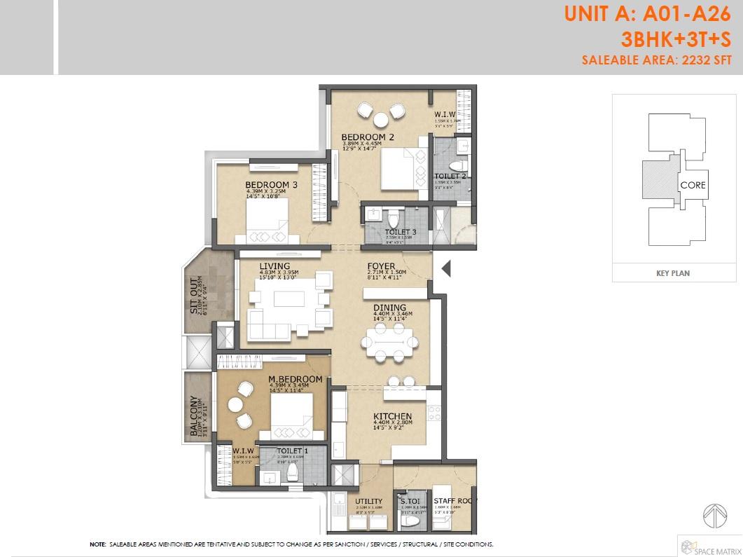 concorde crescent bay apartment 3bhk sq 2232sqft 1