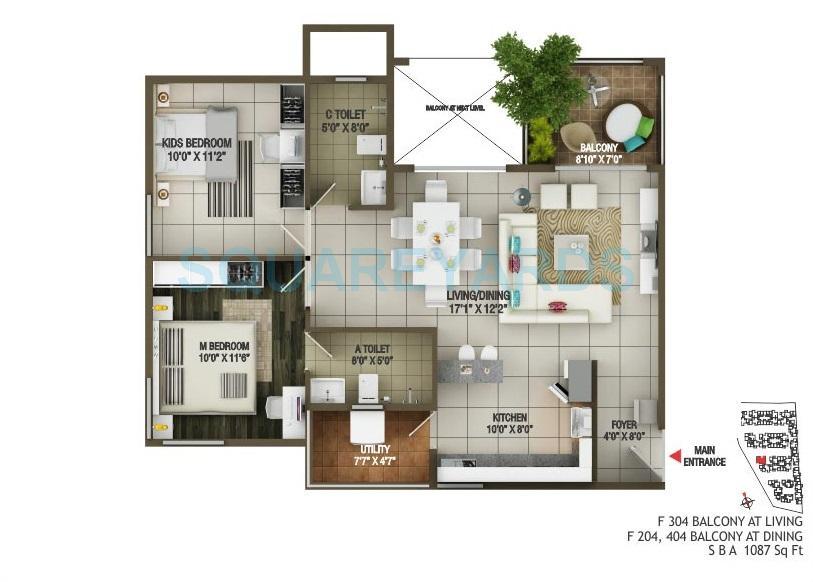 concorde epitome apartment 2bhk 1100sqft1