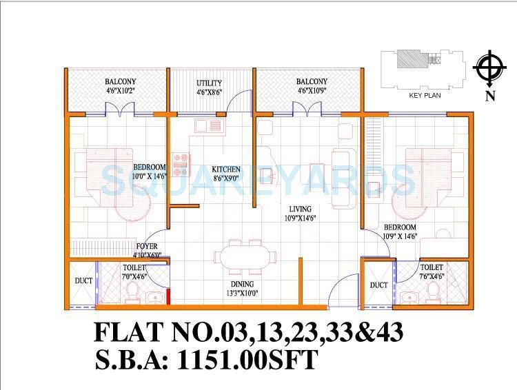 concorde livingston apartment 2bhk 1151sqft1