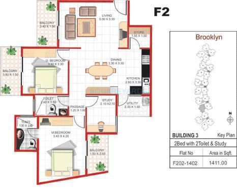 concorde manhattans apartment 2bhk 1411sqft1