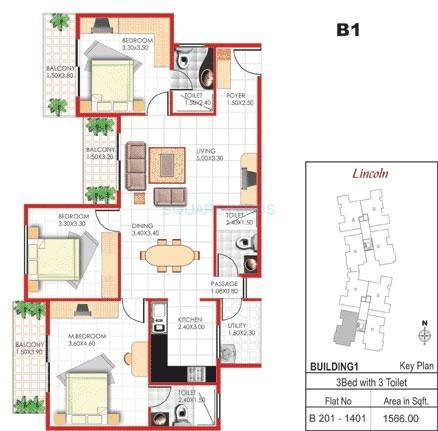 concorde manhattans apartment 3bhk 1566sqft1